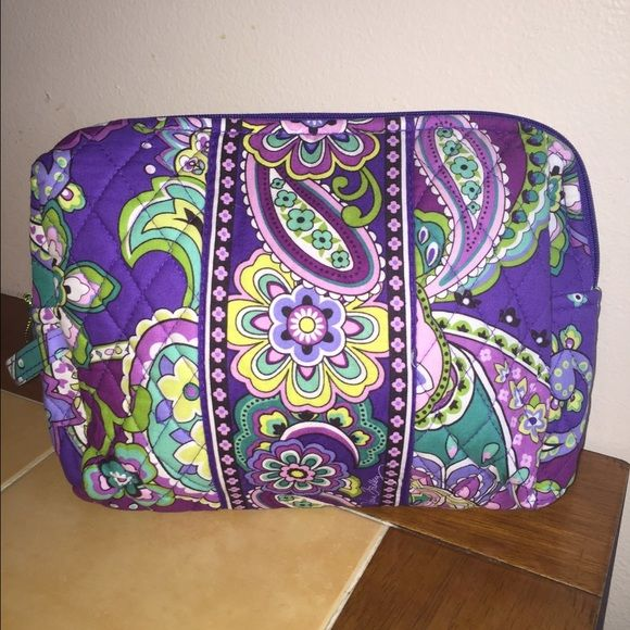 Vera Bradley Lg Cosmetic Bag Heather Nwt New With Tags
