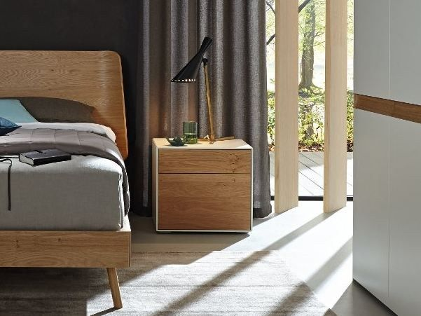 Wooden Bedside Table With Drawers Lunis Bedside Table Hulsta