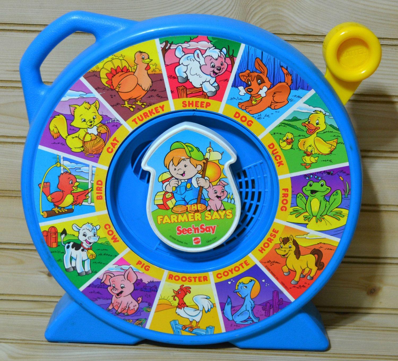 Vintage See N Say The Farmer Says Mattel Toddler Kids