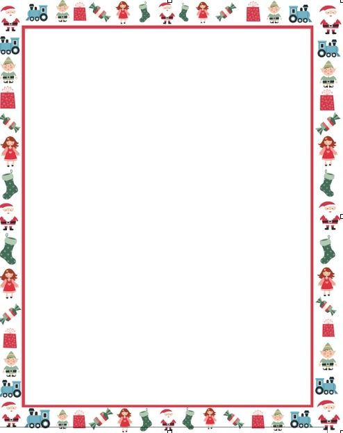 holiday borders for letters - Towerssconstruction