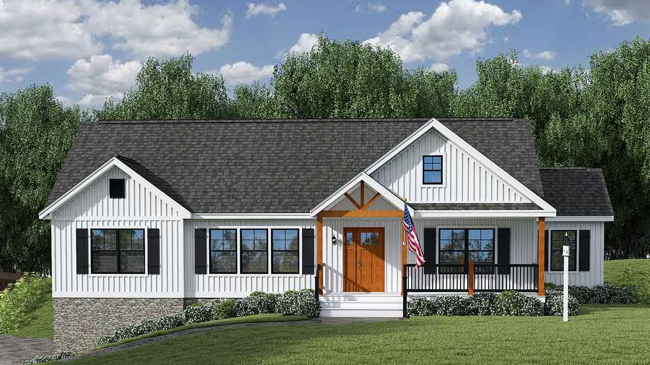 Farmhouse Iii Nationwide Homes In 2020 Simple Farmhouse Plans Farmhouse Plans Modular Home Floor Plans