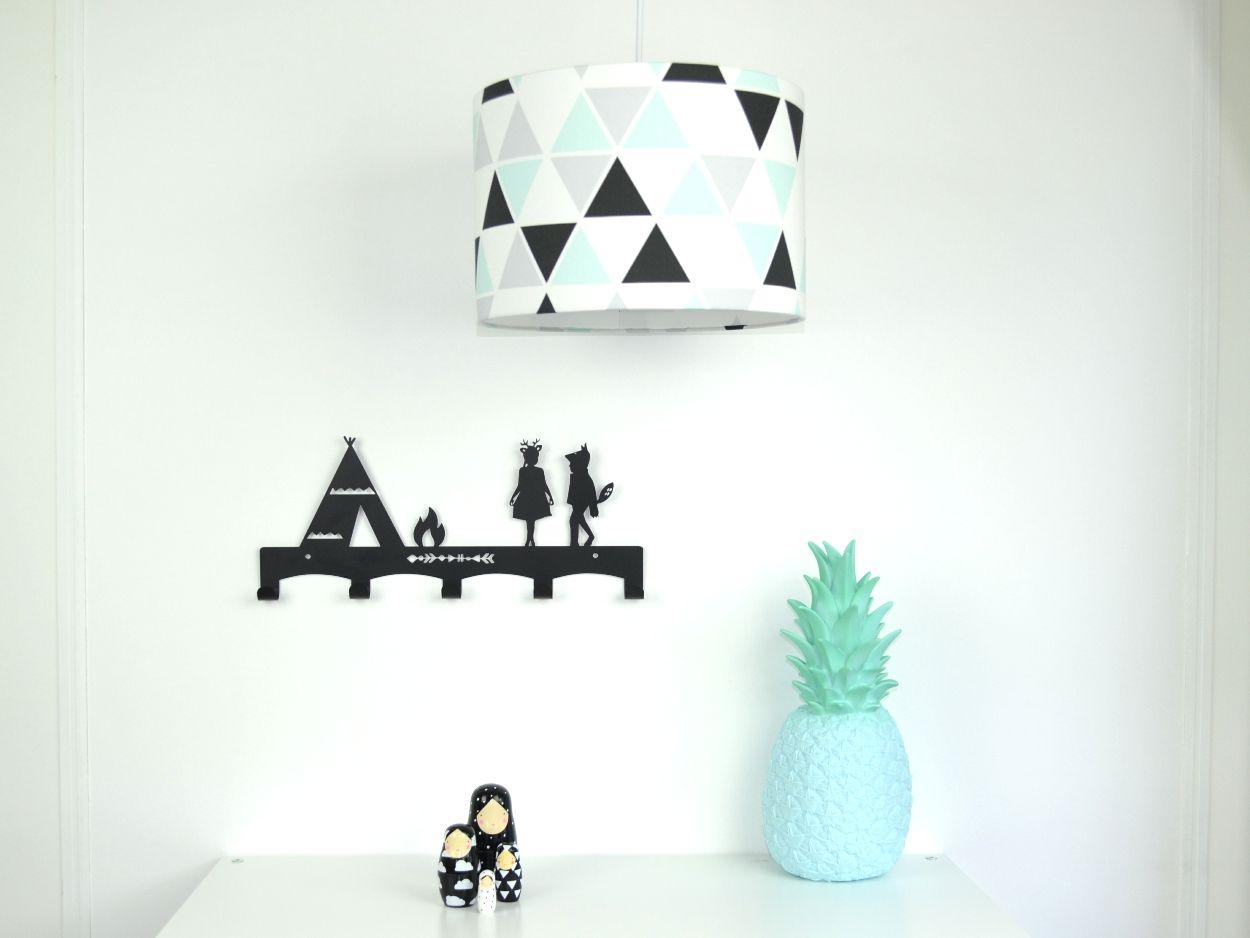 Kinderkamer Van Kenzie : Hanglamp geo mint zwart wit kinderkamer kids room