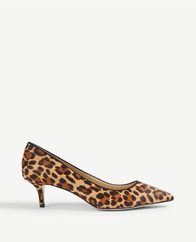 Leopard Print Hair Calf Pumps Kitten Heel Leopard Shoes Pumps Leopard Print Shoes