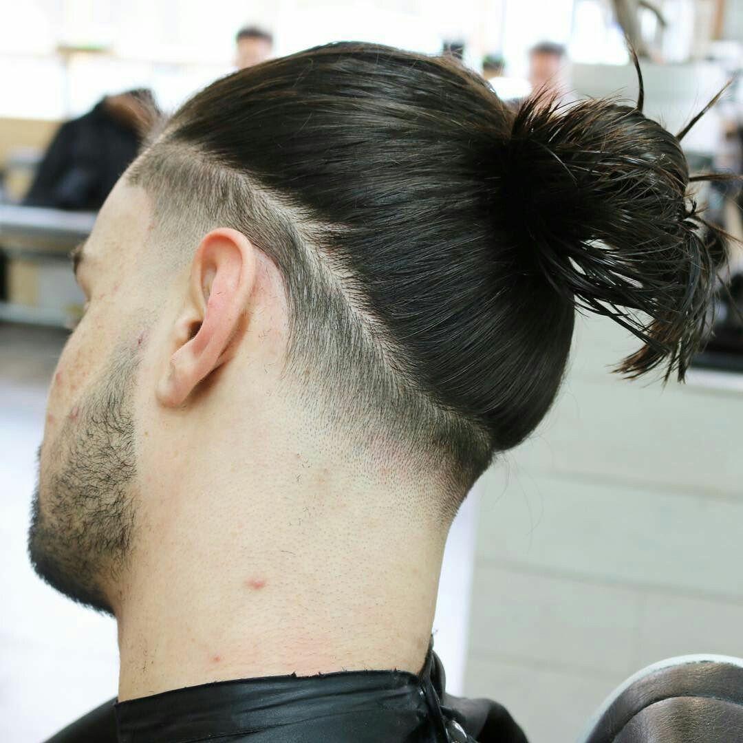 tapered manbun | lookbook | long hair styles, man bun