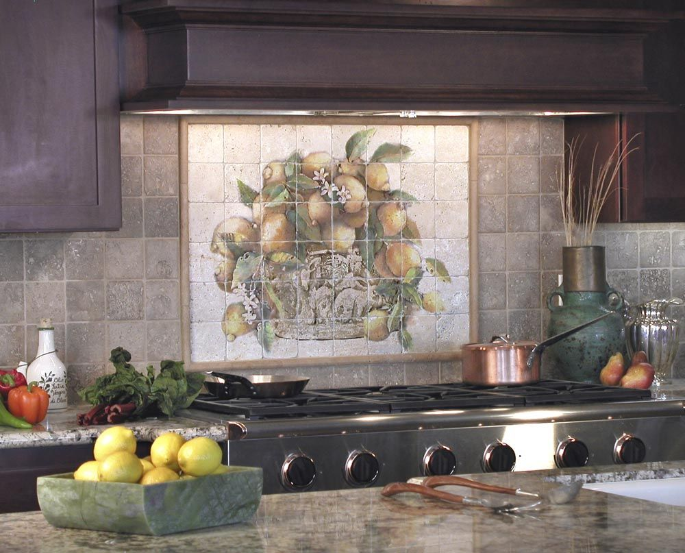 The Lemons Mural Is A Favorite With Customers, As It Is Classic And Elegant  And Will Create A Focal Point In Any Kitchen. This Backsplash On Natural  Stone ...