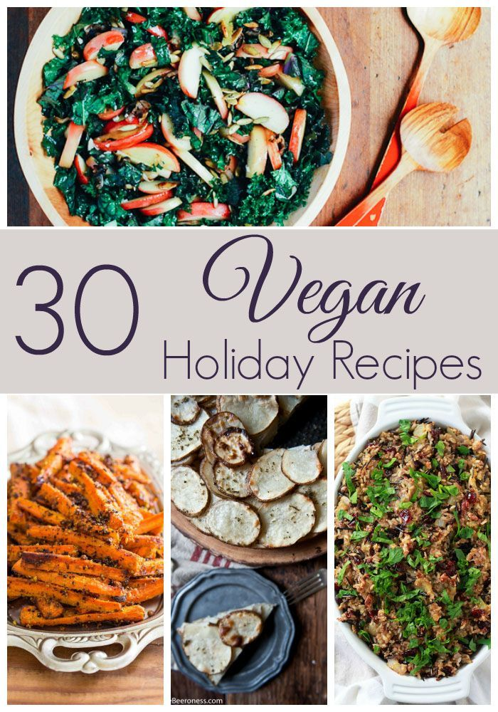 30 Vegan Holiday Recipes that everyone will love at your Thanksgiving, Christmas, Hanukkah or any other holiday party!   http://cupcakesandkalechips.com