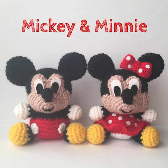 Pack 2 in 1 - Mickey Mouse and Minnie Mouse Disney Amigurumi Pattern ...