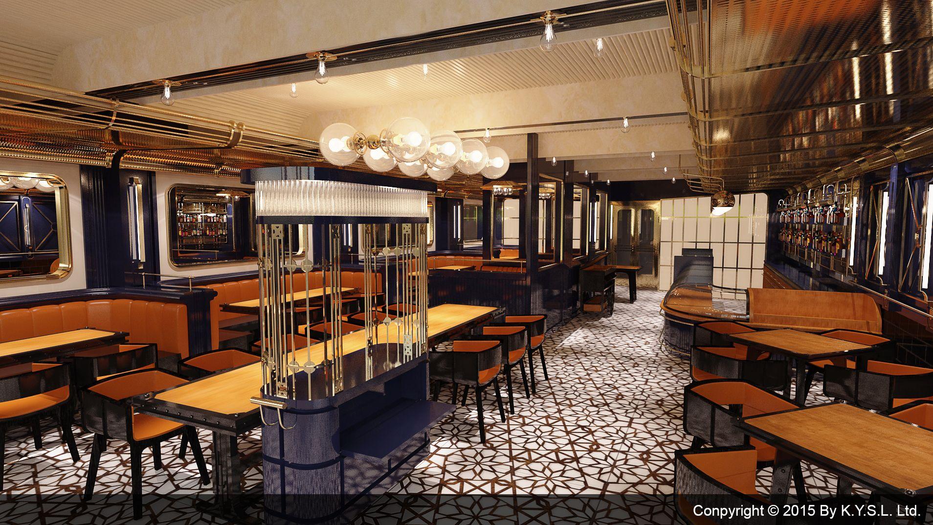 Platform 8 designed by K.Y.S.L. Ltd. An art deco restaurant & Bar ...