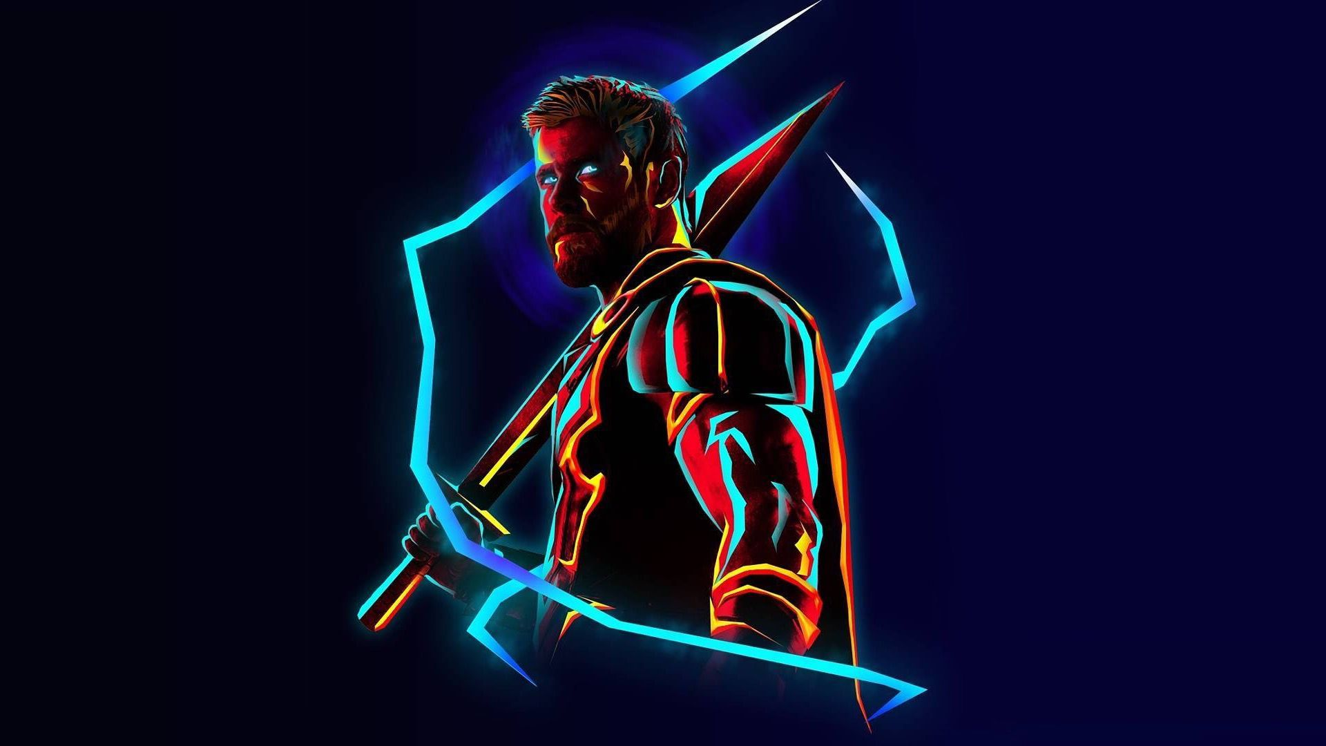 Neon Avengers 1920x1080 Desktop Wallpapers Based On Artwork By