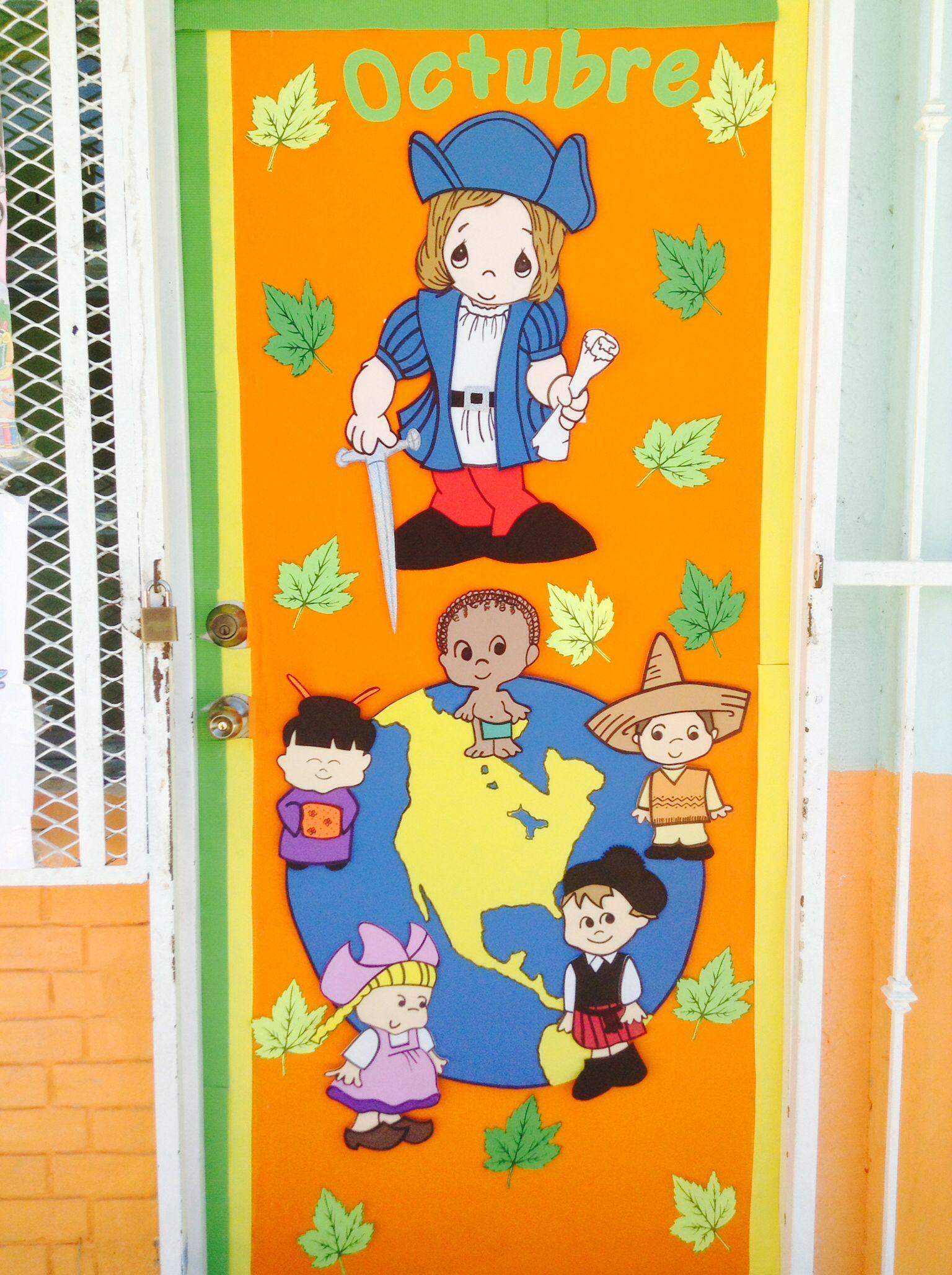 Octubre school puertas de escuela salones de for Decoracion de puertas de salones