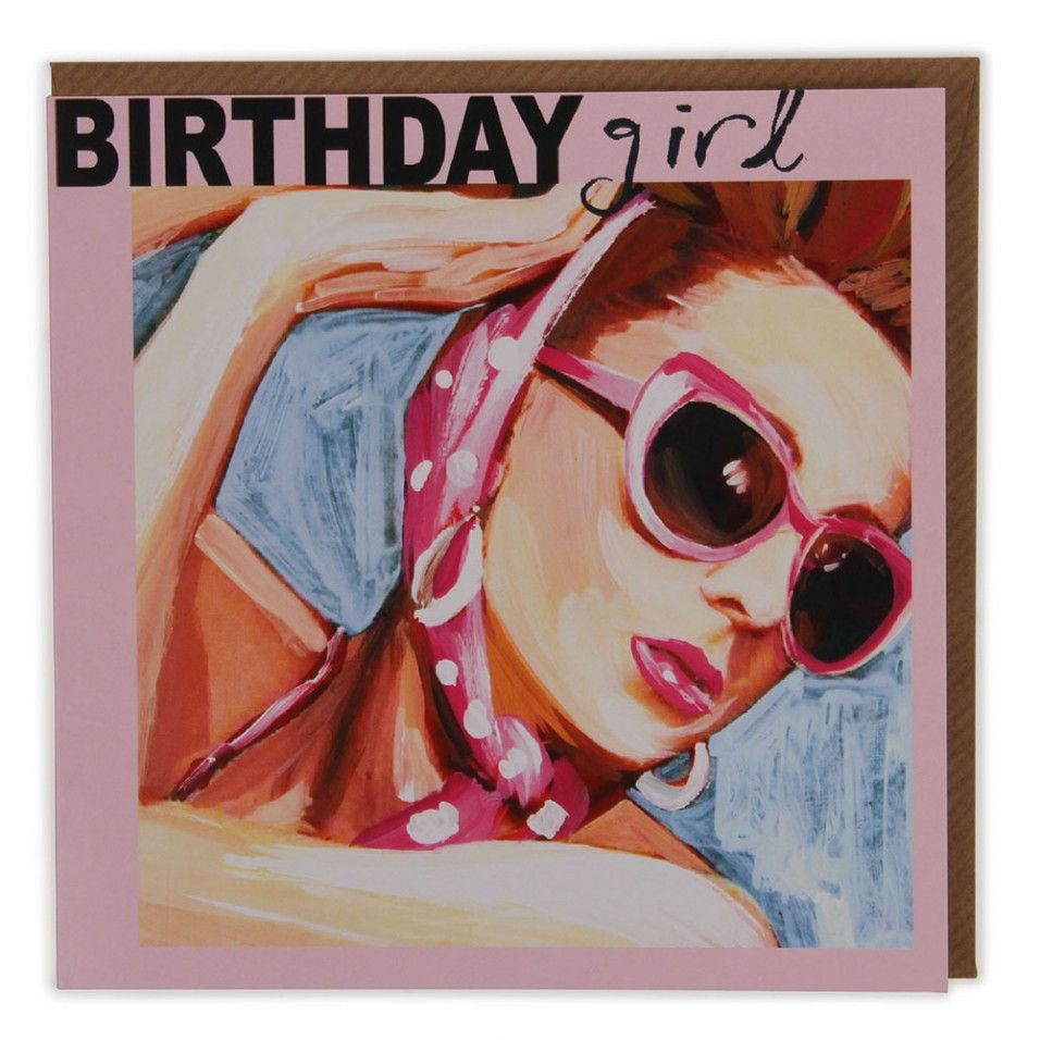 Retro Birthday Greetings Retro Birthday Girl Card