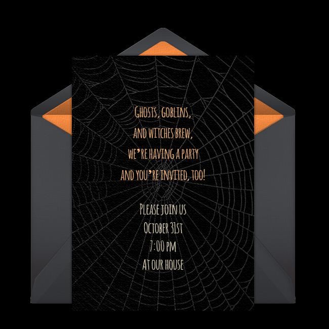 Free Spider Web Invitations Free Halloween Invitations Online Invitations Invitations