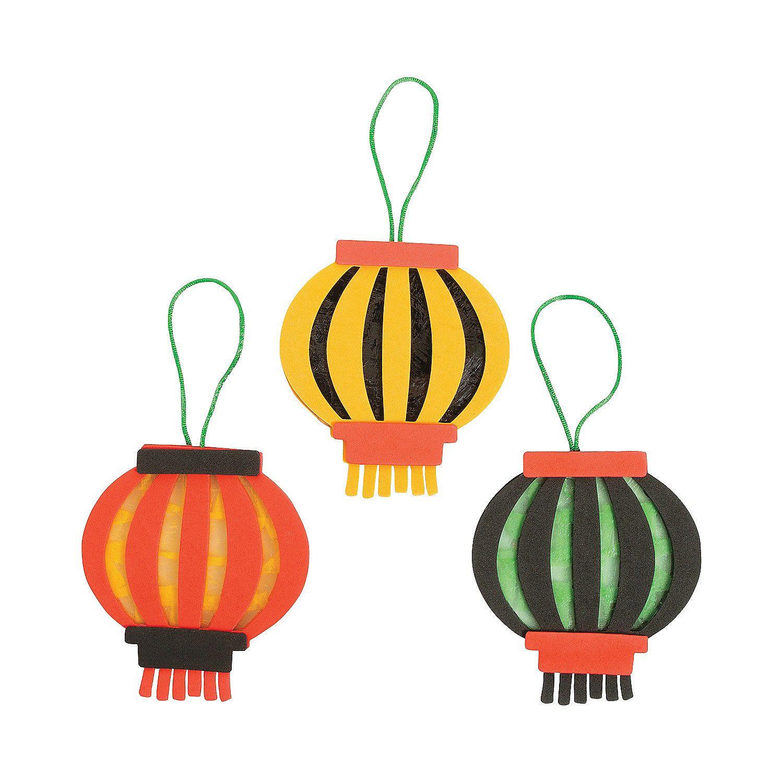 Chinese New Year Tissue Paper Lantern Craft Kit - OrientalTrading.com
