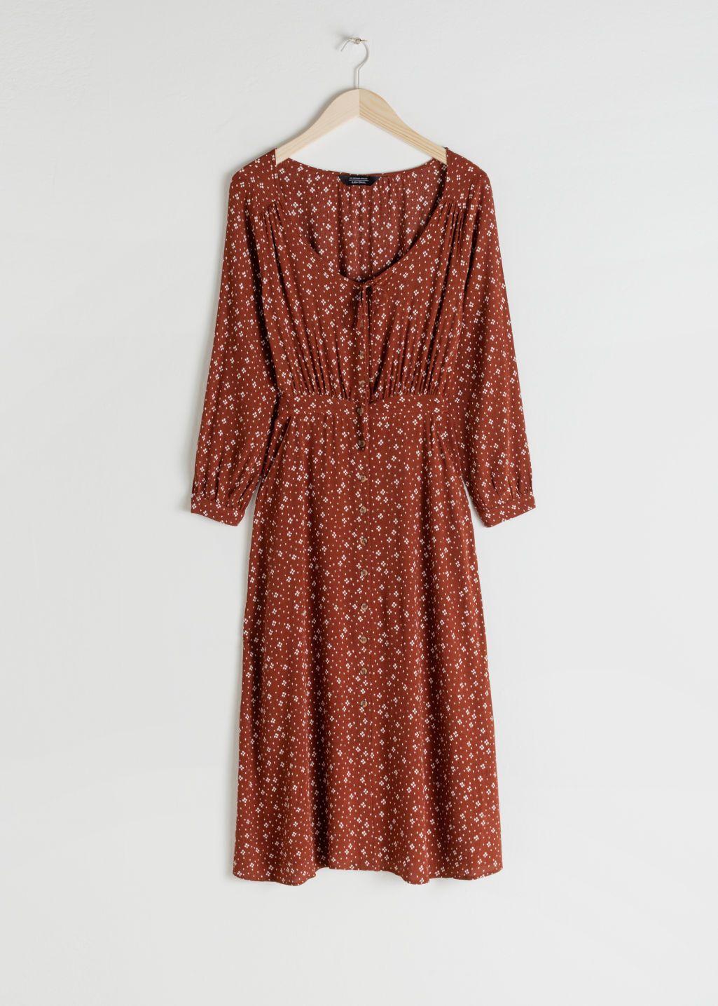 Pdp Dresses Midi Dress Rust Dress [ 1435 x 1025 Pixel ]