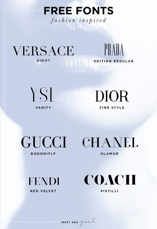 8 Fashion Font Freebie - West End Girl Studio