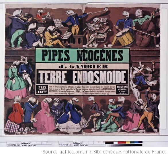 Pipes Néogènes. J. Gambier. Terre endosmoïde...Pub. de 1853. (le   Néogène est la plus récente des deux périodes  de l'ère cénozoïque. Sachant qu'il débute il y a 23 millions d'années j'en déduis que les pipes sont en bois fossile ?)