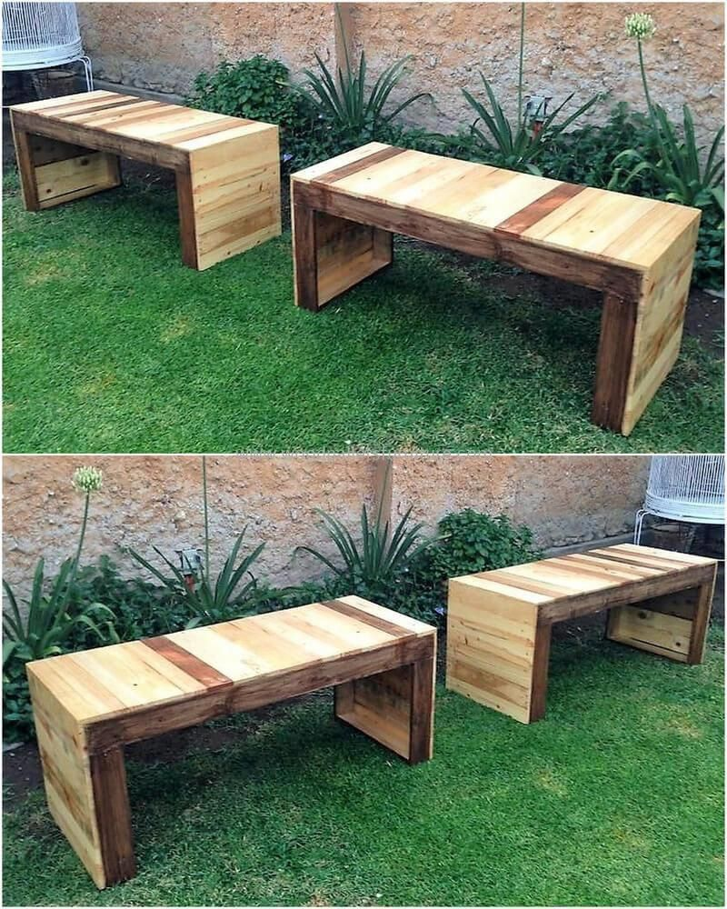 Incredible Recycled Pallet Wood Garden Benches Pallet Projects In Machost Co Dining Chair Design Ideas Machostcouk