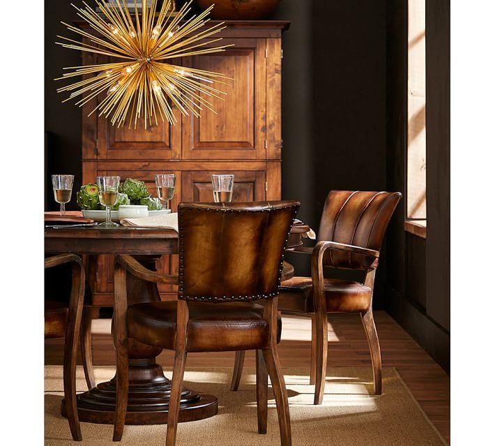 Surprising Elliot Leather Dining Chair Home Sweet Home Pedestal Squirreltailoven Fun Painted Chair Ideas Images Squirreltailovenorg