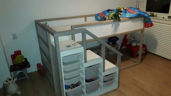 Ikea Kura Trofast Combi Greywashed Kinder Zimmer Ikea Bett Zimmer