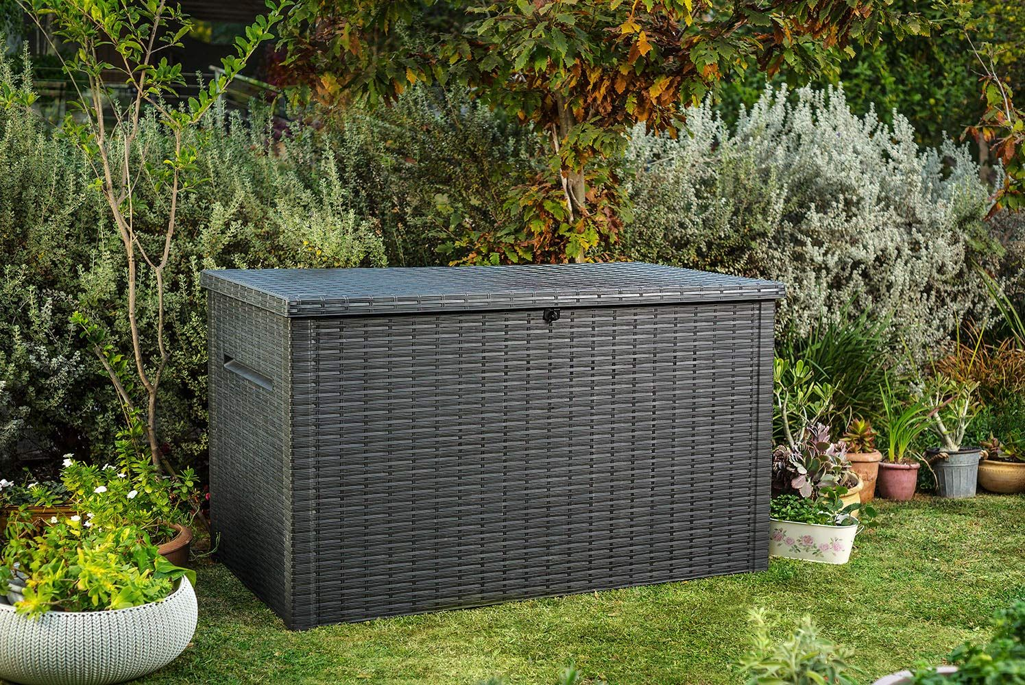 Keter Java Xxl 230 Gallon Outdoor Storage Deck Box Want To Know More Click On The Image It Is An Affiliate Link To Amazon In 2020 Storage Spaces Storage Deck Box