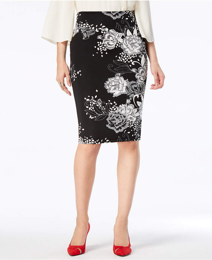 039514eded Printed Scuba Pencil Skirt, Created for Macy's in 2019 | Products ...
