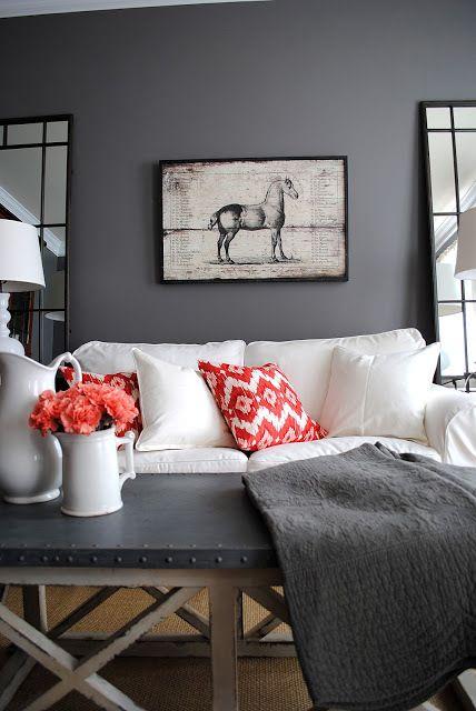 Dark Gray Paint : paint, Sherwin, Williams:, Greige, Paint, Colours, Kylie, Interiors, Living, Grey,, Colors,