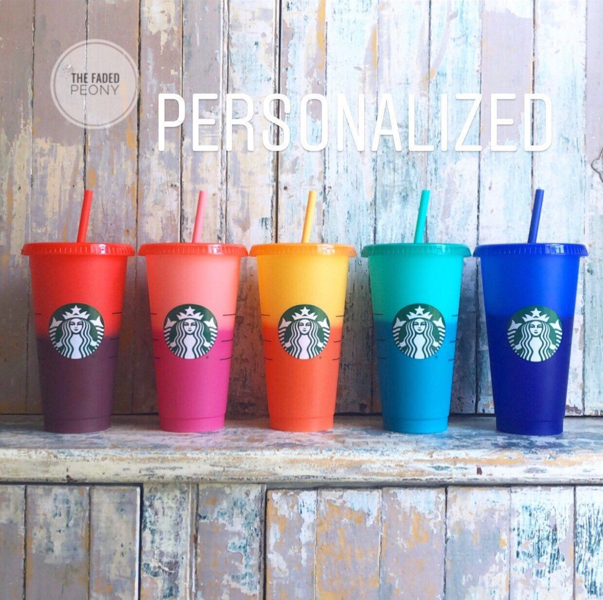 Starbucks Color Changing Cup, Starbucks Tumbler, Starbucks Cup, Color Changing Cup, Personalized Starbucks Cup, Confetti Cup