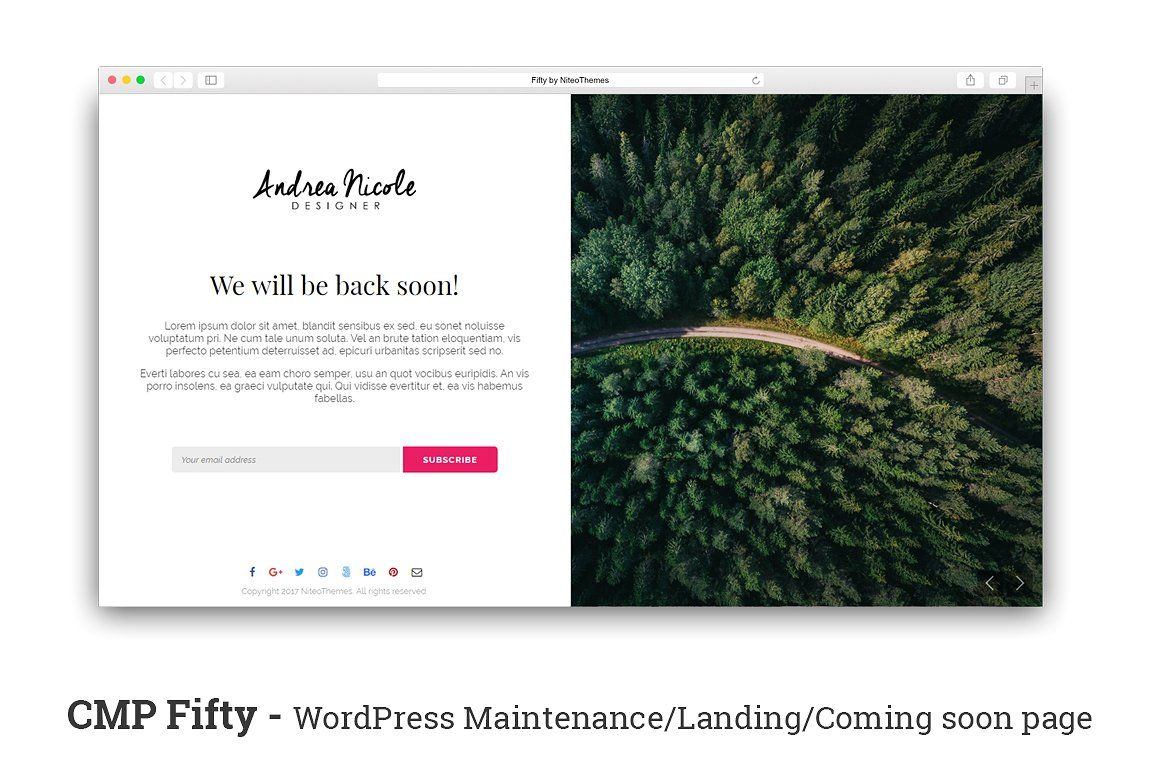 CMP Fifty - Maintenance Landing Page by NiteoThemes on @crea