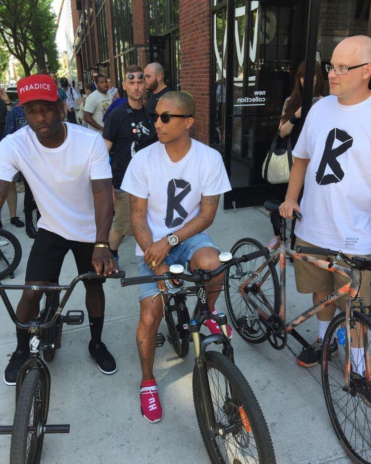 54943da29e3c6 Pharrell Williams Wearing the Human Race adidas NMD