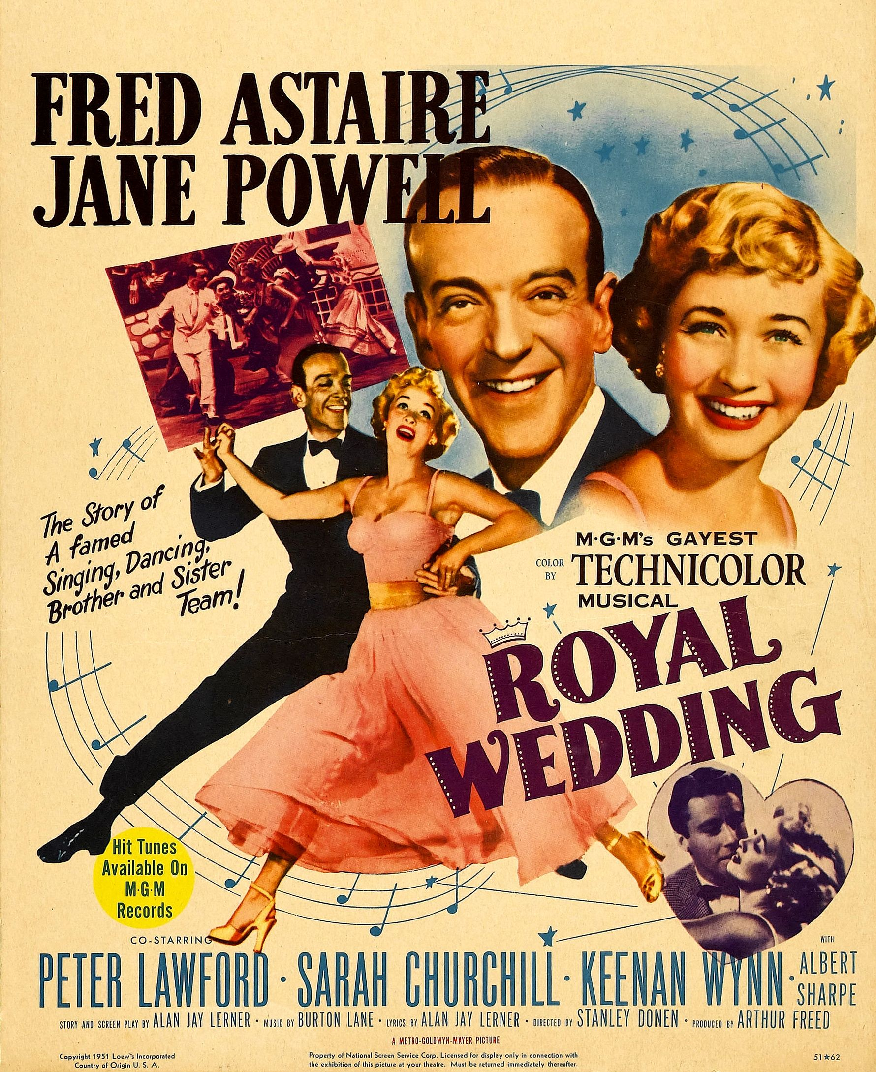 Stanley Donens Musical Royal Wedding  Starring Fred Astaire And Jane