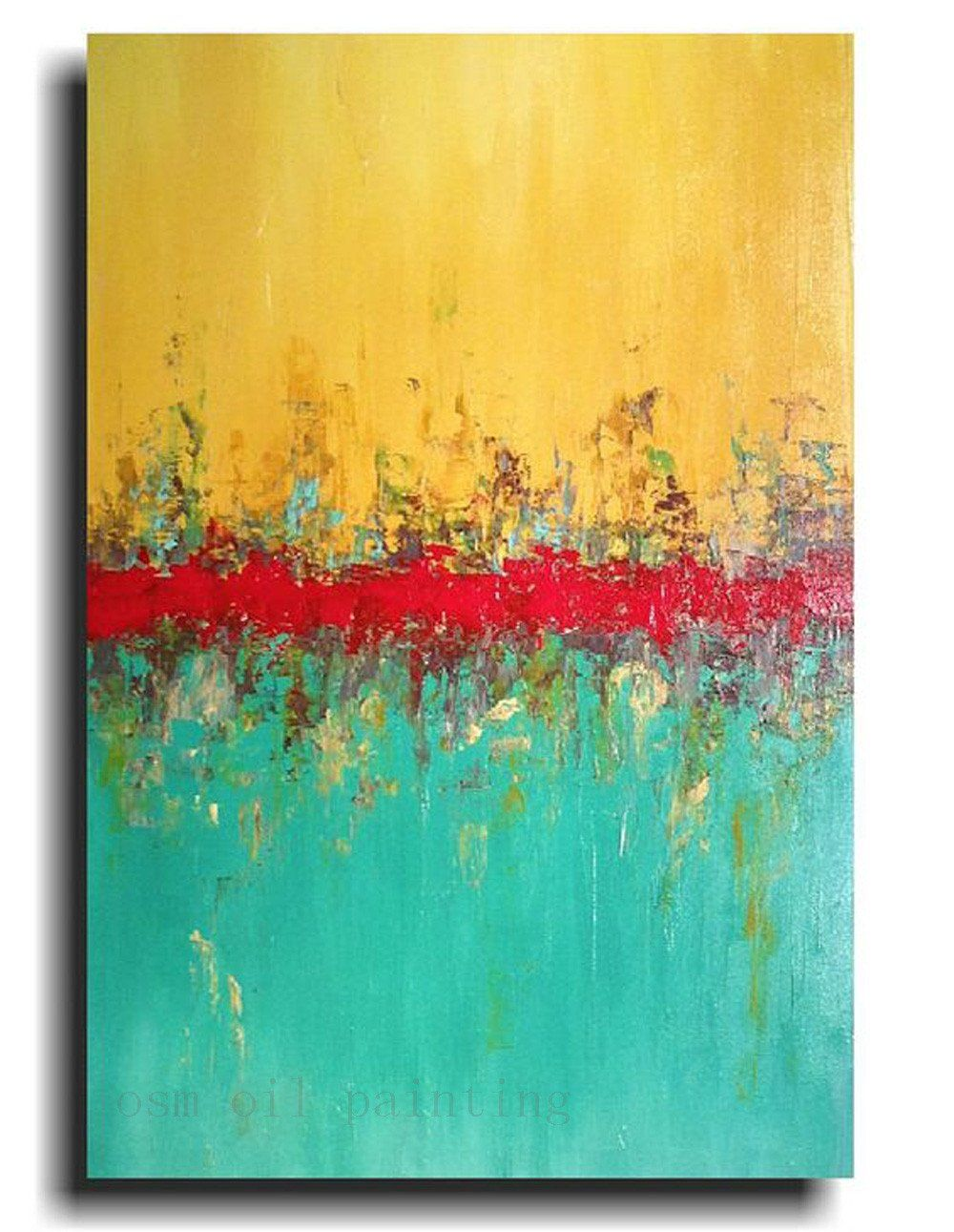 Abstract Modern Merging Colors Oil Painting | Oil, Vivid colors and ...