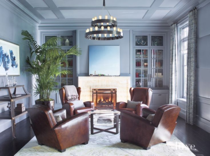 two paris club chairs and two beaubourg wing chairs all by jean de merry