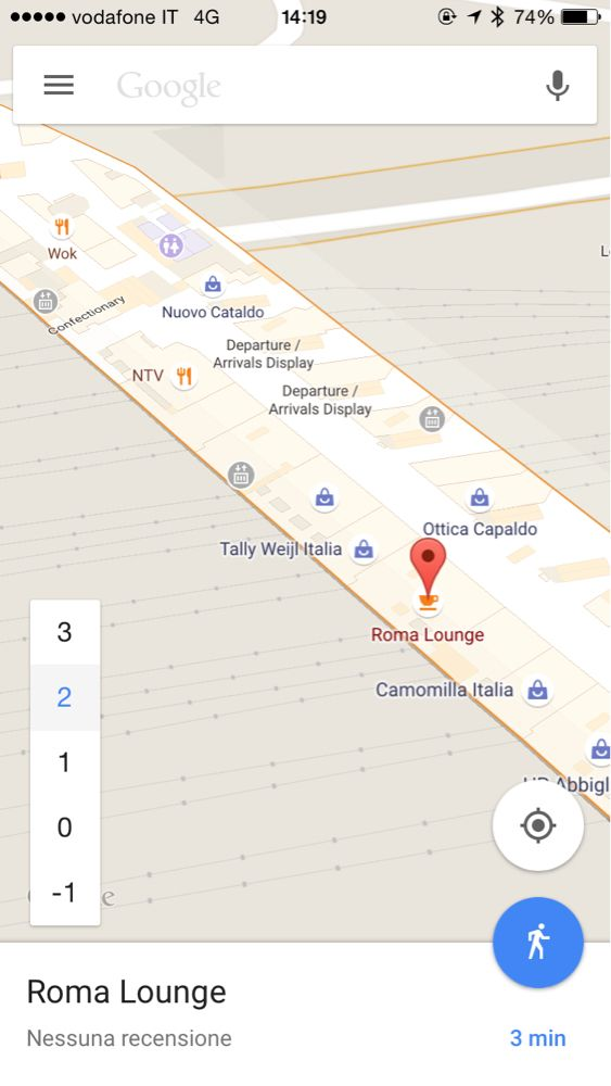 Google Maps per la galleria commerciale all'interno della stazione Tiburtina. Che figata