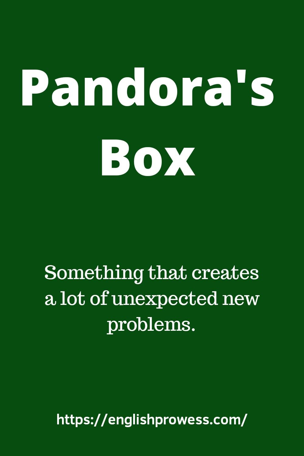 Pandora's Box Meaning | Learning english online, Learn english ...