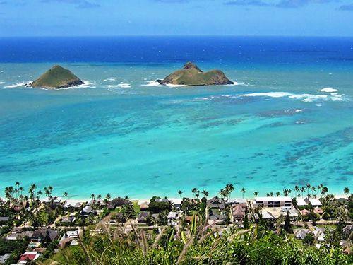 Lanikai Beach Usa North America Hawaii Tourism