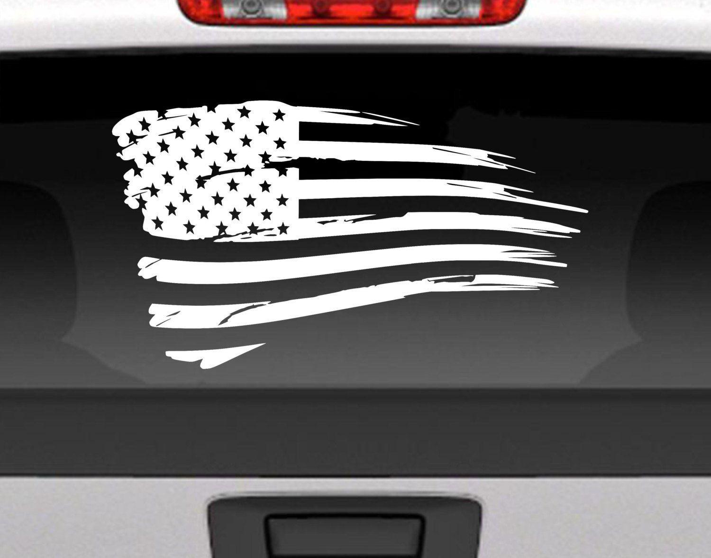 Distressed American Flag Vinyl Decal Sticker Usa Patriotic Decal American Flag Decal Flag Decal Vinyl Decal Stickers [ 1177 x 1500 Pixel ]
