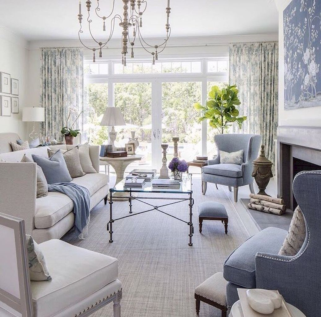 80 Beautiful French Country Living Room Decor Ideas | French country ...