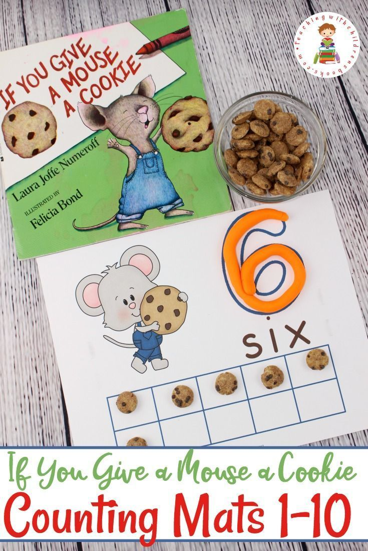 You Give a Mouse a Cookie Counting Practice Mats TheseIf You Give a Mouse a Cookieinspired counting mats are a fun way for children to practice counting from 1 to 10.Perfect for young learners! via @teachingwithbooksTheseIf You Give a Mouse a Cookieinspired counting mats are a fun way for children to practice counting from 1 to 10.Perfect for...