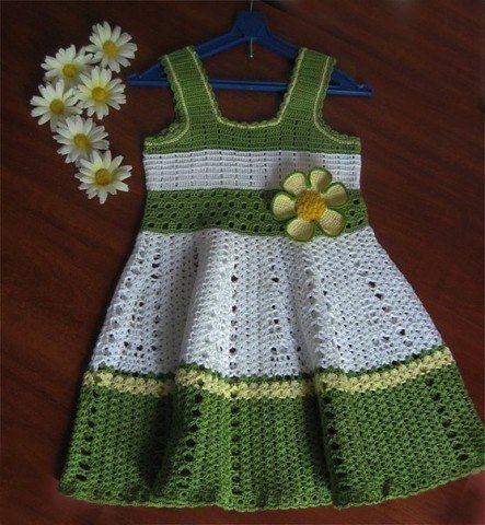 Como tejer un vestido a crochet para niñas | tejidos de bebes ...