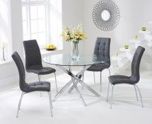 Denver 110cm Glass Dining Table With Calgary Chairs With Images