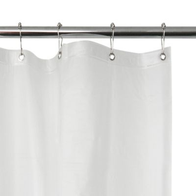 Eva 96 X 72 Vinyl Shower Curtain Liner In Frosted Vinyl Shower