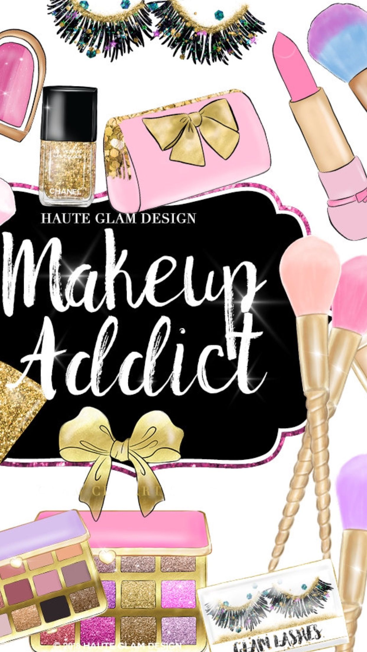 Pin By Mia Baker On Makeup Makeup Wallpapers Fashion Wall