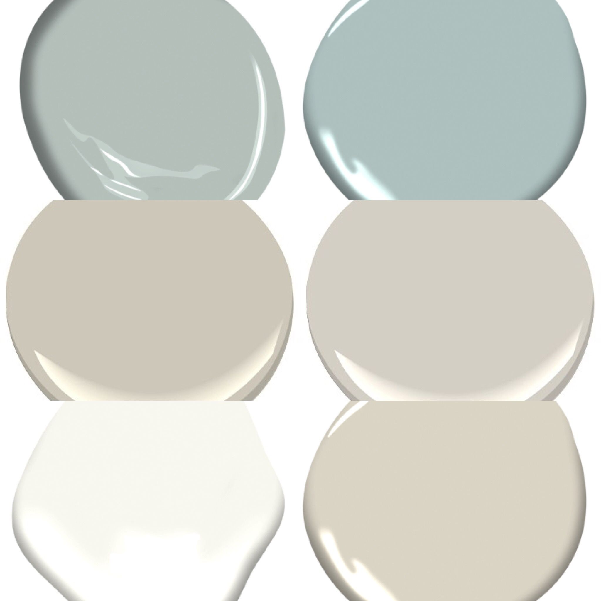 Benjamin Moore Color Palette Revere Pewter Collingwood And