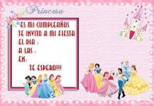 Tarjetas De Cumpleanos De Princesas Disney Invitaciones De Cumpleanos Cumpleanos De Princesa Cumpleanos De Princesa Disney