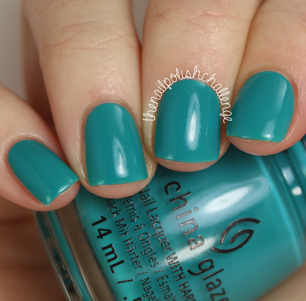 China Glaze Road Trip Collection My Way Or the Highway is a teal ...