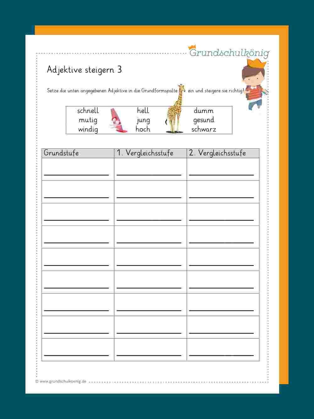 20 Adjektive Ideen   adjektive, adjektive grundschule, deutsch ...