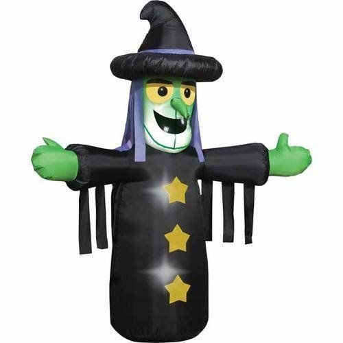 Who could live without the inflatable witch? Happy Halloween - halloween inflatable decorations