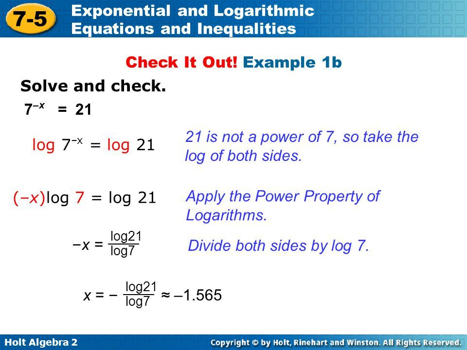 7 5 Exponential And Logarithmic Equations And Inequalities Warm Up Ppt Video Online Download Exponential Equations Inequality