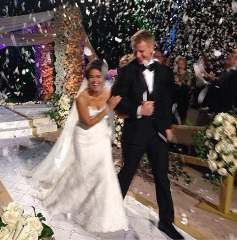 Catherine Giudici Shares Adorable Wedding Photo I M A Lowe Celebrity Bride Bachelor Wedding Bride