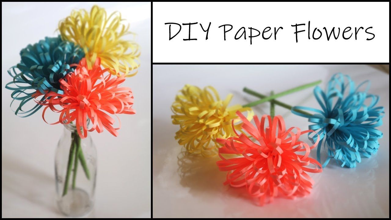How To Make Fluffy Paper Flower Paper Crafts Easy Diy Home Decor